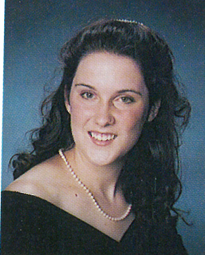 Mary Kate Blaine '96, graduation portrait.